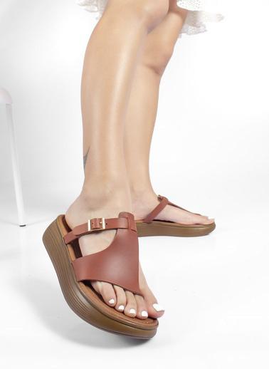MODAGON Hakiki Deri Sandalet Terlik Renksiz